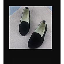 Ladies Ballerina Ballet Flat women shoes - color black