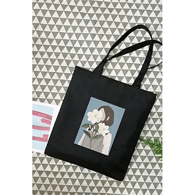 The small evil fairy is black pack ofOxford the canvas bag is female list  shoulder Korean the chic literature Jian Yue's vogue 2018 new style of