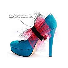 ARI Asymmetrical Pleated Ankle Cuff - Multi Purpose Jewellery - Scarlet