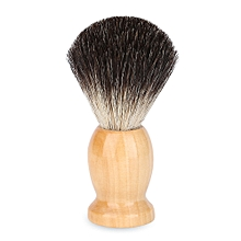 Male Wood Handle Shaving Brush - Black