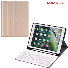 iPad Pro 10.5 Keyboard Case with Apple Pencil Holder - Slim Shell Protective Cover with Magnetically Detachable Wireless Bluetooth Keyboard for Apple iPad Pro 10.5 Inch 2017 Mll-S