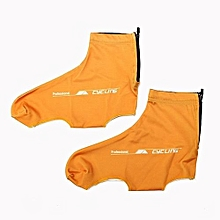 Outdoor Sports Cycling Shoe Covers Orange (L)