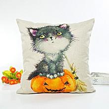 Happy Halloween Pillow Cases Linen Sofa Cushion Cover Home Decor E