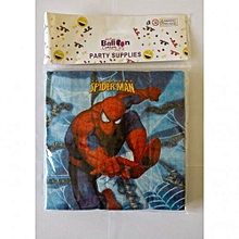 Spiderman party serviettes-20pieces-multicolored