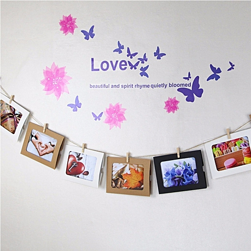 Buy Generic 10PCs 6\'\' DIY Paper Photo Picture Frame Rope Clip Flim ...