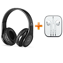 P05 Wireless Bluetooth 4.2 Stereo Headphone - Black,Get One Free Iphone Earphones