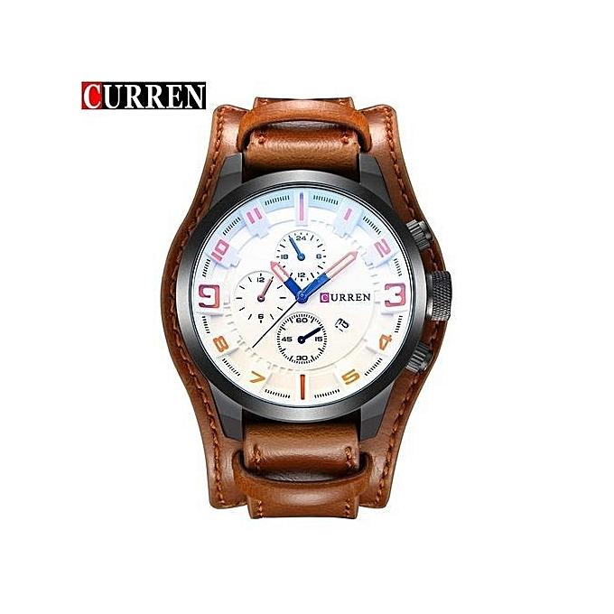 1473df7b4a8 Curren Watch Men Luxury Brand Quartz Men s Watches Leather Waterproof  Casual Sport Watch Wrist Military Clock