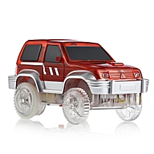 LED Light Racing Track Car Toy Not Include Battery - Red + Silver