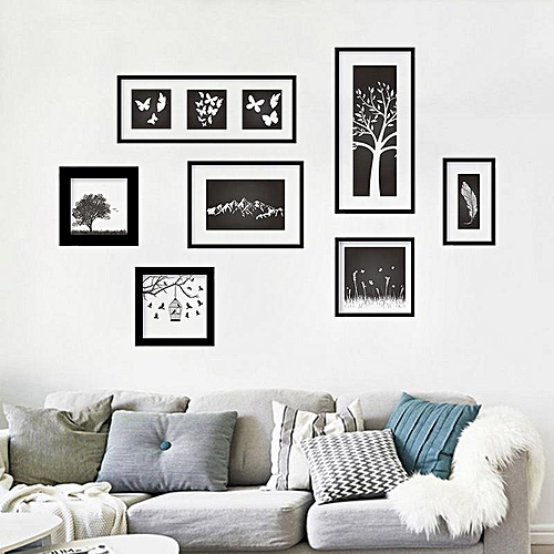 Buy Generic Art Photo Frame Black Bedroom Living Room Decoration - Wall stickers for bedrooms interior design