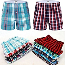 Boxer Shorts - 3 Pieces-Pure Cotton. Checked Multicolored