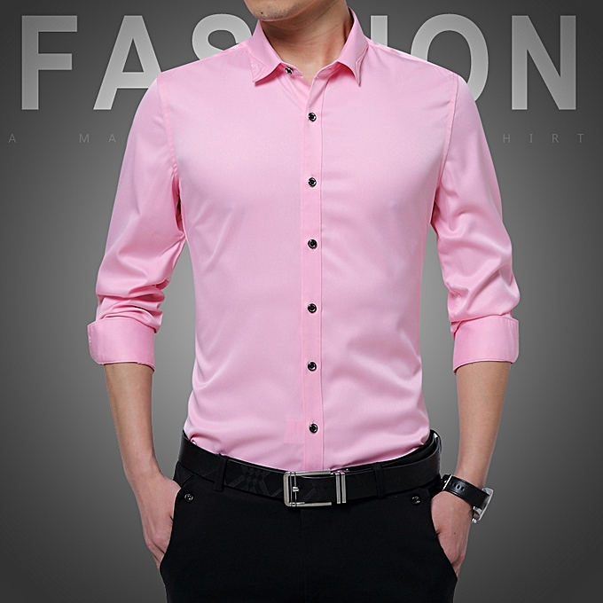 Tauntte Long Sleeve Formal Shirts For Men (Pink)   Best Price ... 04ebdcc23