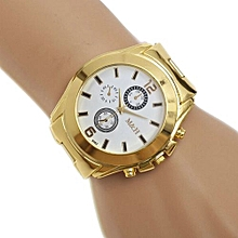 Stainless Steel Sport Quartz Wrist Hour Gold Bracelet Big Dial Watch WH