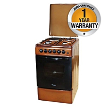 RF/401 - 3 Gas + 1 Electric - 50X60 Cooker - Brown