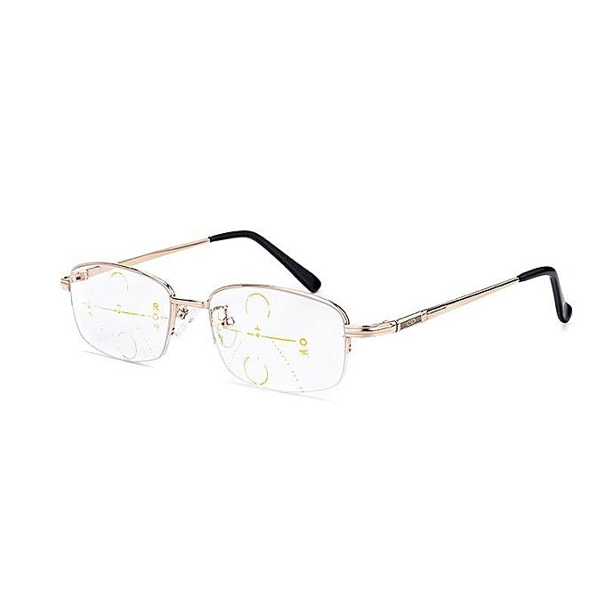 c05c35c49b8 KCASA Intelligent Reading Glasses Progressive Multifocal Lens Presbyopia  Alloy Frame Anti Fatigue +2.5D