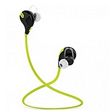 High Quality Sport Wireless Bluetooth Headset In-ear With MicEarphone For Various Phones Green (Color:Yellow)