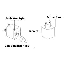 8GB Mini AC Adapter EU Plug USB Pen Charger Video Camera Loop Record-Black