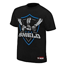 Wwe The Shield Shield United Authentic T-shirt Black Mens Punk Shirt Casual Tee New Fashion