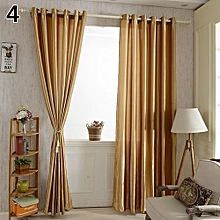 Solid Window Door Room Panel Shade Curtain Drape Blind Valance Home Decor-Coffee