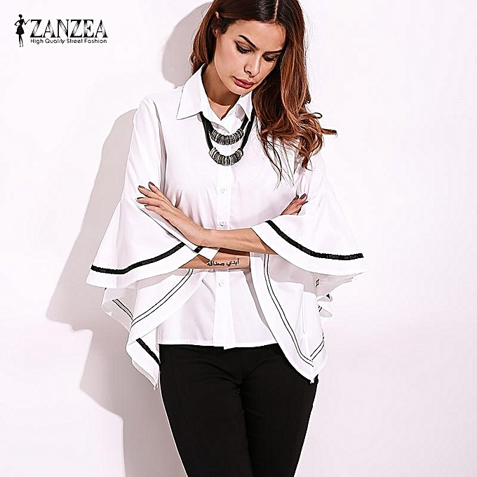 ac922f966ec262 Ruffle Long Sleeve Blouse - Image Of Blouse and Pocket