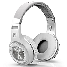 Bluedio Hurricane H-Turbine Bluetooth 4.1 Wireless Stereo Headphones Headset (White)
