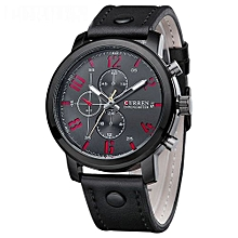 Black Quartz Mens' Wrist Watch