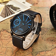 OHSEN Fashion Casual Leather Strap Mens Man Watches Quartz Watch Male Business Hombre Wristwatch Relogio Masculino Montre Homme