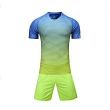 Customized Blank 2018 New Fashion Kids And Men's Football Soccer Team Sports Jersey Set-Yellow