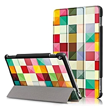 For Huawei 2017 M3 Lite 10.0 Case, Ultra Slim Case + PU Leather Smart Cover Stand Auto Sleep/Wake For Tablet Mediapad M3 Lite 10.1 Inch - Colorful