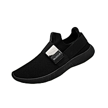 Men Sneakers Breathable Fashion Moccassins For Male Casual Shoes (Black)