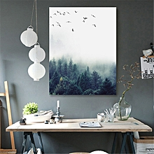 30*40cm Forest Landscape Wall Art Canvas Poster Print Nordic Style Painting Home Decor-Multi