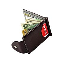 Ultra-thin Leather Money Clip Slim Wallets ID Credit Card Holder Purse GY