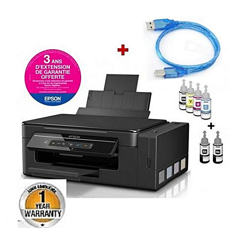 L3060 EcoTank WIFI Color+USB Printer Cable+Ink Bottles-Black