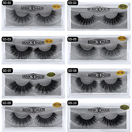 54269980c33 Generic Fake Lashes 1Pair 3D Mink Eyelashes Luxury HandMade Cilios Long  Lasting Volume Lash Extension Reusable False Eyelashes