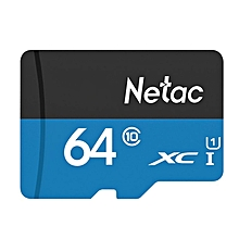 Netac P500 64GB Class 10 High Speed TF Card SDXC Storage Memory Card For Mobile Phone