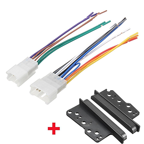 Generic Stereo Cd Radio 2 Din Dash Frame Trim W Wire Harness For
