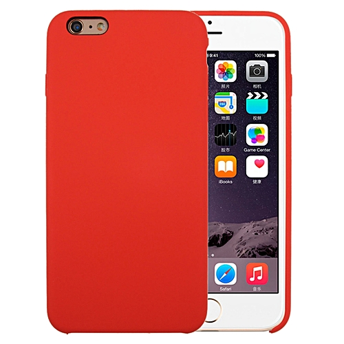 half off 385ab 90111 For iPhone 6 Plus and 6s Plus Pure Color Liquid Silicone + PC Protective  Back Cover Case(Dark Red)
