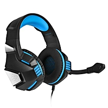 3.5mm Headsets Bass Gaming Headphones With Mic LED Light