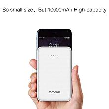 Onda Qi80 Wireless Powerbank Dual Port 8000 mAh - Black.