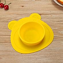 2 in 1 Baby Feeding Bowl Anti Slip Silicone Sucker Plate Dish