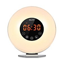 6639 Wake-up Light With FM Radio Time Display-White