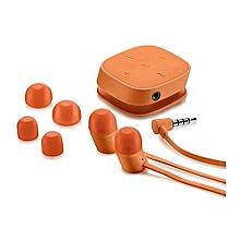 H5000  Bluetooth Earphones with inbuilt Mirophon-Orange