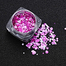 1.5g Mixed Round Thin Nail Art Glitter Paillette Nail TipGel Polish Decoration-Multicolor