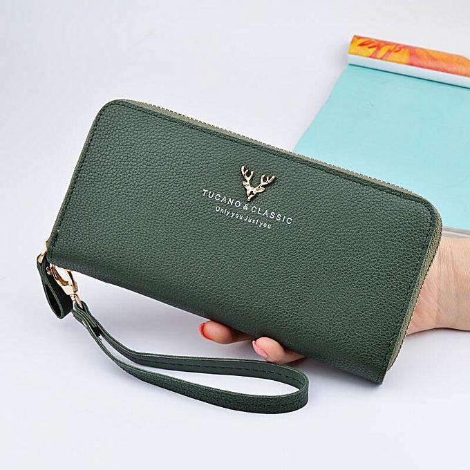 79bb7bd06fd697 Designer Leather Phone Wallets Women Purses Long Zipper Red Coin Wallet  Female Money Bag Credit Card
