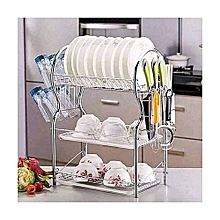 Generic 3-Tier Dish Rack / Utensils Rack Stainless Steel with Drain Board