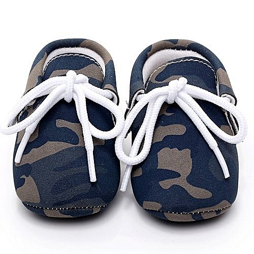 323b079d22a31 Generic bluerdream-Baby Girl Boys Camouflage Frenulum Fashion Shoes Sneaker  Anti-slip Soft Shoes- Blue