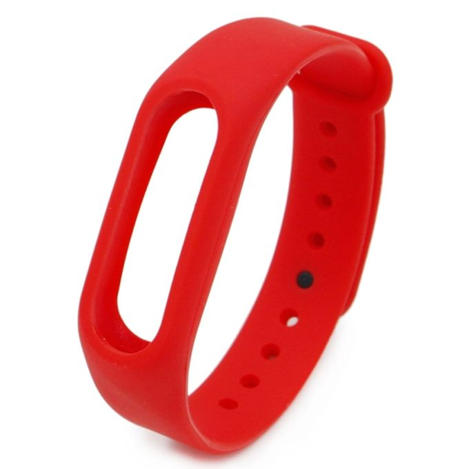 Generic Silicone Watch Band For Xiaomi Miband 2 Red