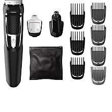 MG3750 - Norelco Multigroom All-In-One Series 3000 - 13 attachment Cordless Trimmer/Shaver - Shaving Machine for Men – Black