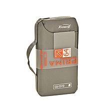 Oxford Fabric CD DVD 64 Discs Storage Holder Case Wallet Bag Organizer - Gridelin