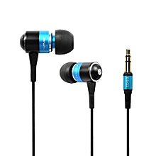 Olivaren Awei Q3 Headphone Earphone Super Bass For Cellphone Mp3 Mp4 BU -Blue