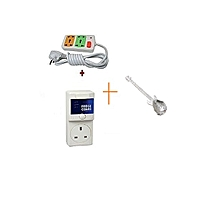 Fridge Guard 5A Refrigerator voltage protector + Free 4way fused extension + free guitar shaped tea spoon of any color